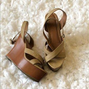 Cathy Jean Tan Wedge Sandals
